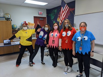 5th Grade Team getting into the Halloween spirit!