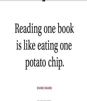 Diane's quote about reading