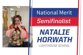 Lighthouse student Natalie Horwath is a National Merit Semifinalist