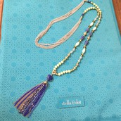 Azure Tassel Necklace - $40