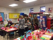 Friends and family enjoying our Dr. Seuss activities.