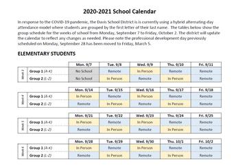Updated Calendar through October 2