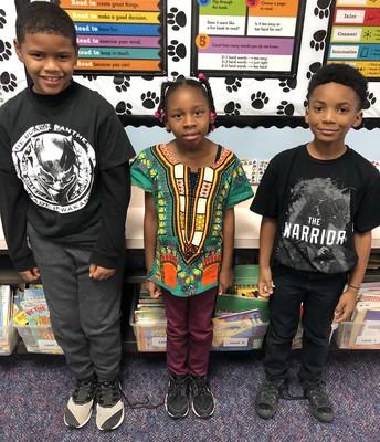 Ms. Sheib's class represents Wakanda!