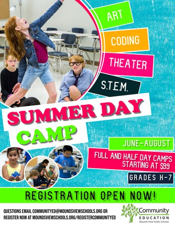 Full and half-day summer day camps