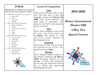 Contestant Manual