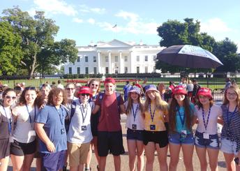 Los estudiantes de Bernotas en la Casa Blanca