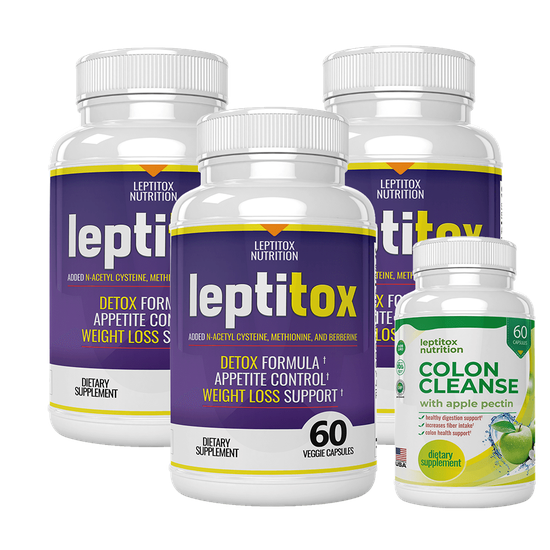 Leptitox 3 bottle pack with colon cleanse
