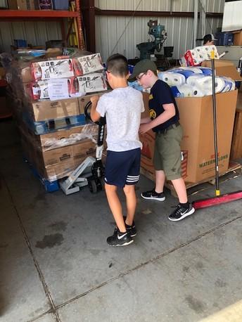 SJCS Students Load Supplies for Bahamas