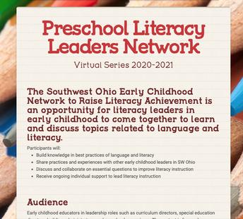Preschool Literacy Leaders Network