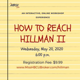 How to Reach Hillman - HBCU Information Session