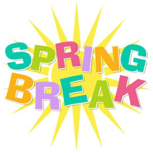 Spring Break is March 29th thru April 5th. School resumes on Tuesday, April 6th. Have a great break!