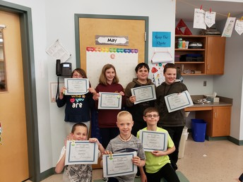April 2019 Perfect Attendance - 4th grade