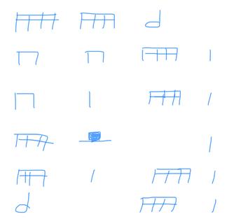 4th/5th grade rhythms