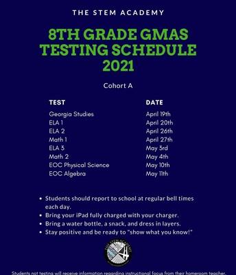 8th Grade - Cohort A
