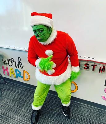 Mr. Simard makes the BEST Grinch!