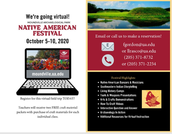 Moundville Native American Festival Goes Virtual: Virtual Field Trip Opportunity