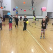 Balloon Volleyball in PE