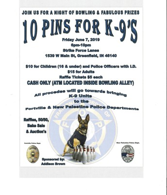 10 Pins for K-9's