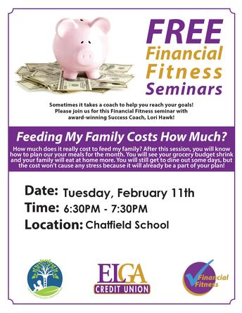 Financial Literacy Parent Presentation - Join us Feb. 11