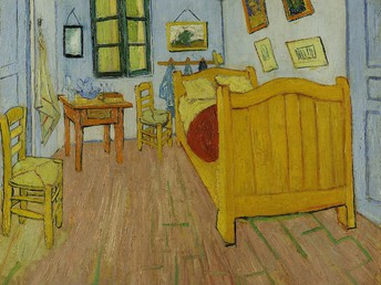 Spanish:  El Dormitoriio por Vincent Van Gogh