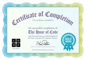 Final Step: Need the certificate for the HOUR of CODE for your students?