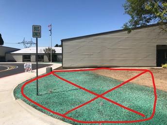 No gathering zone. Use designated areas.