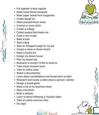 Teen Care Package-Indoor Activities (Part 2)