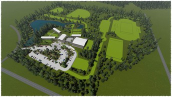 Aerial Rendering of South Campus as we grow