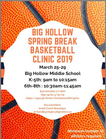Big Hollow Spring Break Basketball Clinic