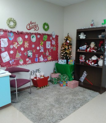 Students in Ms. Young's class at PRIDE were lucky enough to experience a very FESTIVE calming corner this Holiday Season