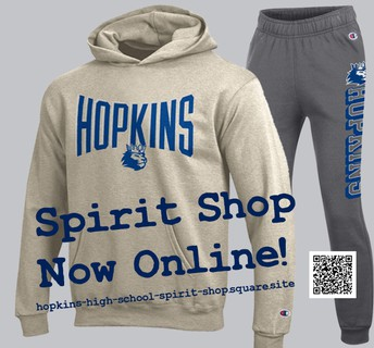 Greetings from the Hopkins Royals Spirit Shop!