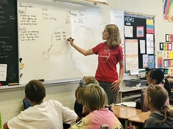 Number talks capture students mental math to build fluency with numbers