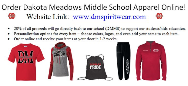DMMS spirit clothing options to purchase