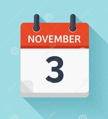 Important Information for November 3, 2020