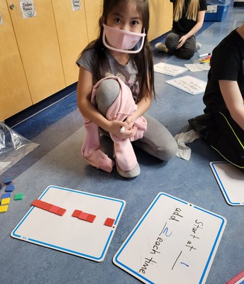 2L is learning to increase patterns in math.