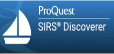 ProQuest SIRS Discoverer icon with white sailboat and blue background