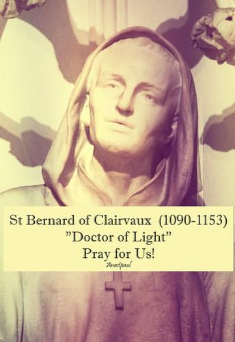 St. Bernard of Clairvaux, Patron Saint of our Parish & School