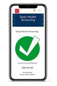 Option to resubmit Health Screening