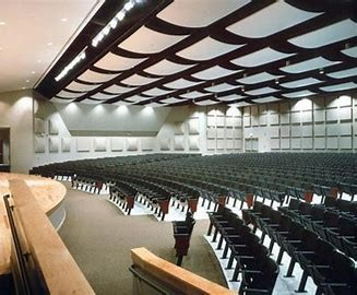 There is no music in the auditorium