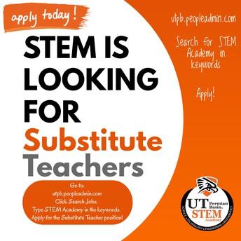 Substitute Teachers Needed!