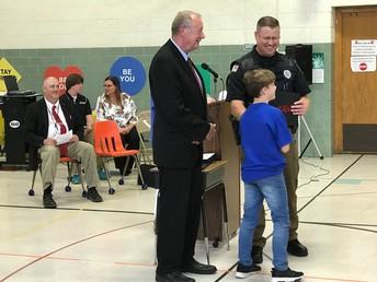 Mayor Livingston and Officer Johnson