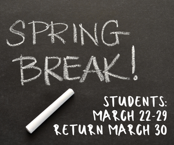 One day added to Spring Break for students; Students return March 30