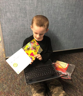 Recording a new reading level on Seesaw