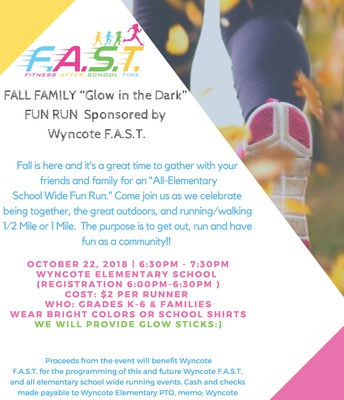 F.A.S.T. 'Glow in the Dark Fun Run'