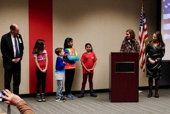 Willow Bend leads Pledge of Allegiance