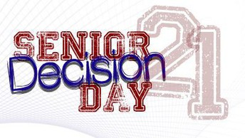Senior Decision Day 21 in red and blue text.