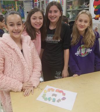 Edible color wheel in Art class