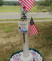 The marker explaining our soldier.
