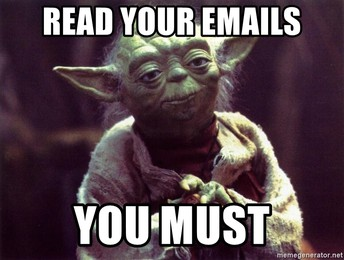 Students - Are You Reading Your Emails?