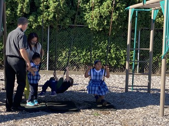 Father Michael at Recess
